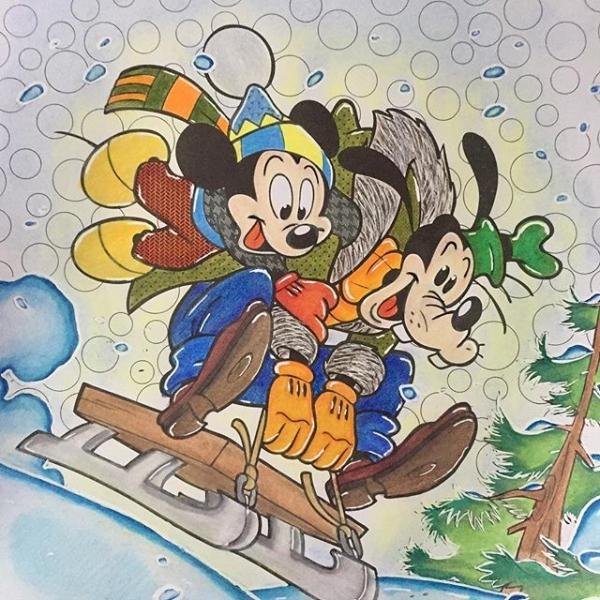Mickey et Dingo font les fous