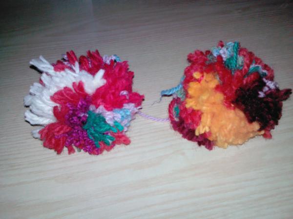Les pompons en laine