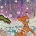 Coloriage Bambi sur la glace