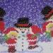 Napperon bonhommes de neige