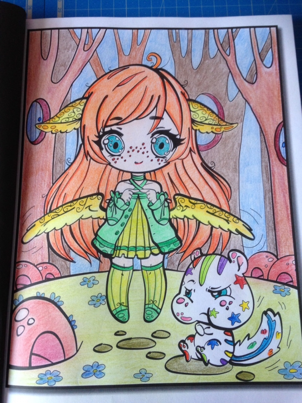Coloriage chibi girls
