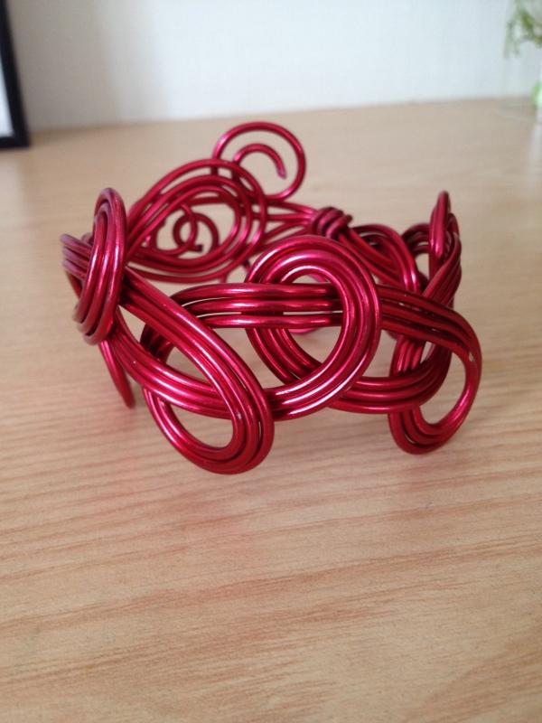 Bracelet alu rouge